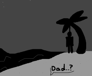 son sees dad hang himself on the beach