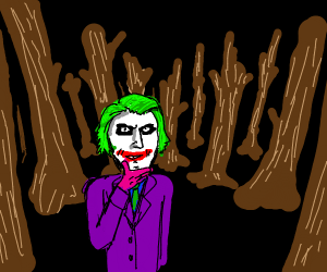 The Joker in a forest