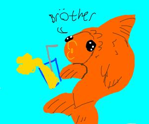 feesh has lemon drink brother
