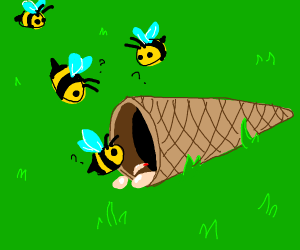 Bees attack an Ice Cream Cone
