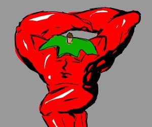 Sexy body builder tomato