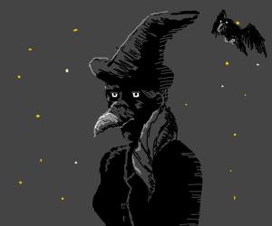 witch with a bird beak