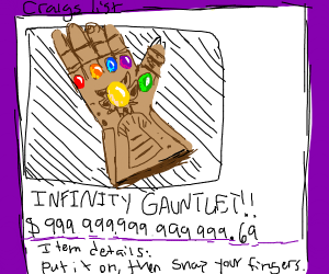 Step 5: Sell the infinity gauntlet