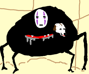 NoFace but a dog is inside