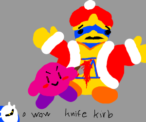 King dedede gets straight up stabbed by kirby