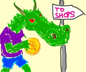 Dragon has big coin to shop