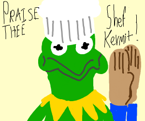 Bless the chef kermit