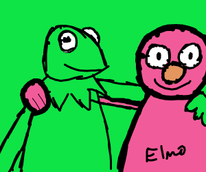 Elmo and Kermit are friends!