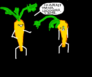 Gold carrot bullying a gold carrot