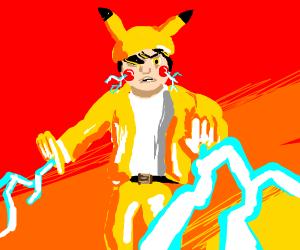 Pikachu as a human
