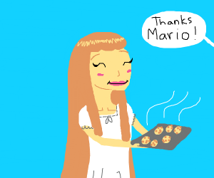 Mario is a nice girl wth long hair