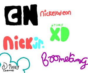 Kids tv network logos