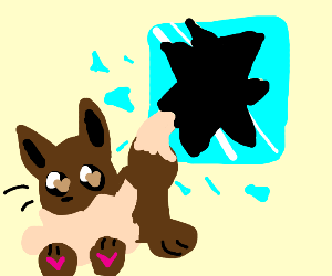 Evee jumps out a window