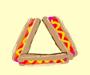 Hot dog triangle