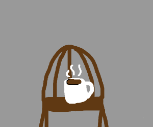 coffee on a chair