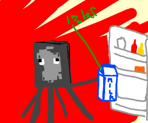 minecraft squid is evil
