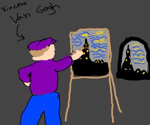 Leonardo da Vinci paints The Starry Night