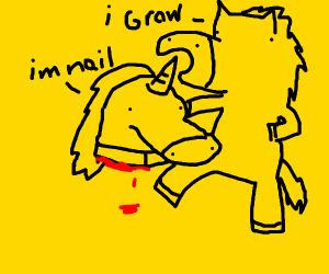 Pony eating a Nail