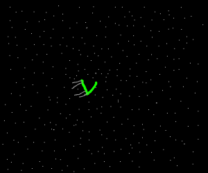Green Chair in Space