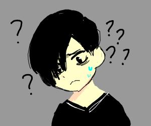 Confused emo kid