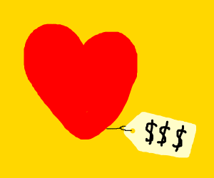 love costs money