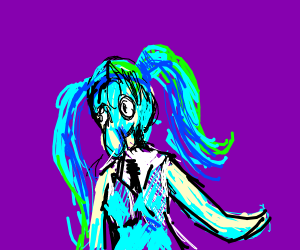 Squidward as Hatsune Miky