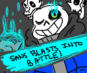 Sans blasts into battle! (SSBU)