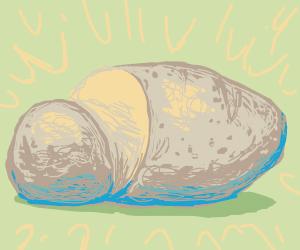 a gray potato