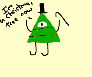 Bill from Gravity Falls is a christmas tree