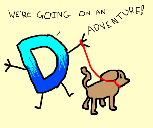 Drawception and their dog going on adventure