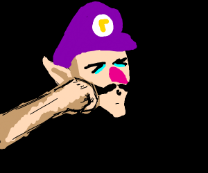 Waluigi gets decked in the jaw