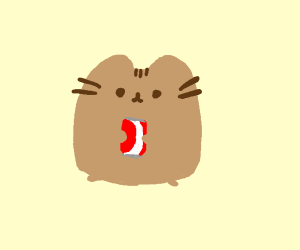 Pusheen has some Coca-Cola