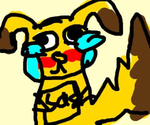 pikachu is sad