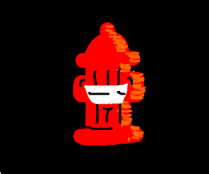 a hydra smiling