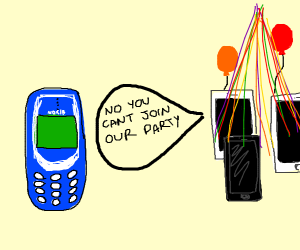 old nokia told it cant join iphone party