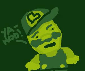 Luigi in a gameboy game