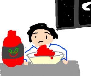 Ketchup for dinner
