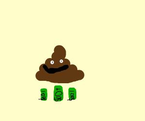 Rich poop emoji