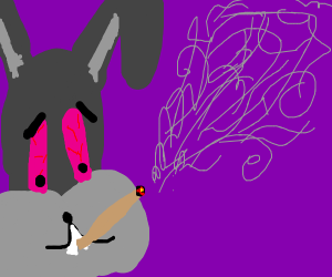 bunny smoking a joint