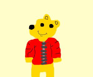 Winnie the Pooh wearing a Coat