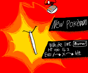 new pokemon: white line- try and catch it