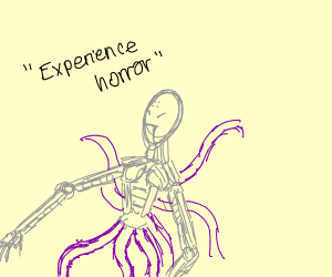 Robot with tentacles