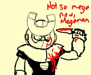 Magnet man stabs not so megaman