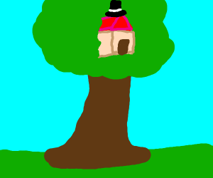 Treehouse with a tophat