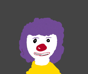 Some clown woman