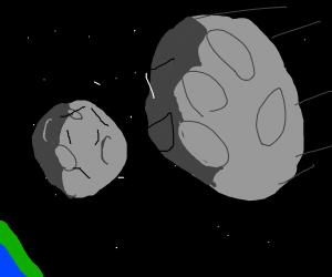 asteroid heading toward the moon