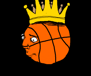 a King Basketball with a face