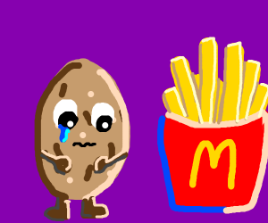 Potato Sobs At French Fries