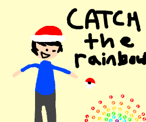Ash catching the new pokemon: rainbow