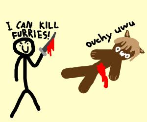 Man killing a furry says I can kill furries
